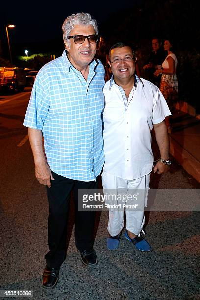 Singer Enrico Macias and his violonist Kamel Labbaci attend the Michel Boujenah's show 'Ma vie revee' for the last evening of the 30th Ramatuelle...