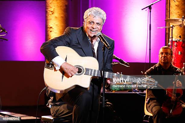 Singer Enrico Macias gives a concert at the 30th Ramatuelle Festival Day 10 on August 10 2014 in Ramatuelle France