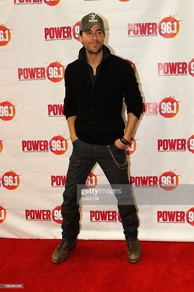 Singer Enrique Iglesias attends Power 96.1's Jingle Ball 2012 at the Philips Arena on December 12, 2012 in Atlanta.