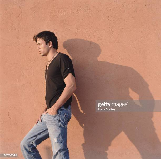 Singer Enrique Iglesias is photographed for the Telegraph on September 26 2003 in Barcelona Spain