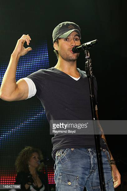 Singer Enrique Iglesias performs at the Allstate Arena in Rosemont Illinois on MAY 18 2012