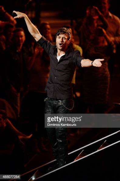 Singer Enrique Iglesias performs onstage at Fashion Rocks 2014 presented by Three Lions Entertainment at the Barclays Center of Brooklyn on September...