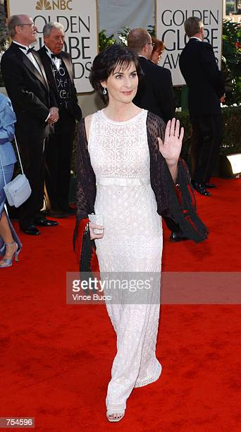 Singer Enya attends the 59th Annual Golden Globe Awards at the Beverly Hilton Hotel January 20 2002 in Beverly Hills CA