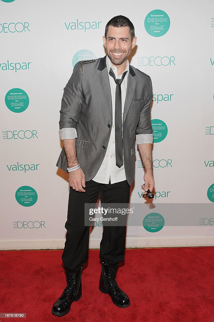 Singer Eric Alan attends Housing Works 9th Annual Design On A Dime Benefit at Metropolitan Pavilion on April 25, 2013 in New York City.