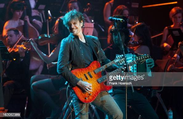 Singer Eric Bazilian performs live during 'Rock meets Classic 2013' at the MaxSchmelingHalle on February 18 2013 in Berlin Germany