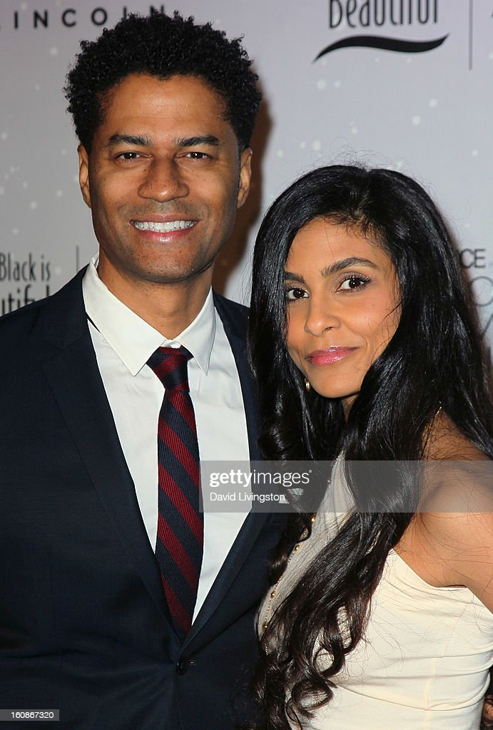 Singer Eric Benet (L) and wife Manuela Testolini attend the 4th Annual ESSENCE Black Women In Music honoring Lianne La Havas and Solange Knowles at Greystone Manor Supperclub on February 6, 2013 in West Hollywood, California.