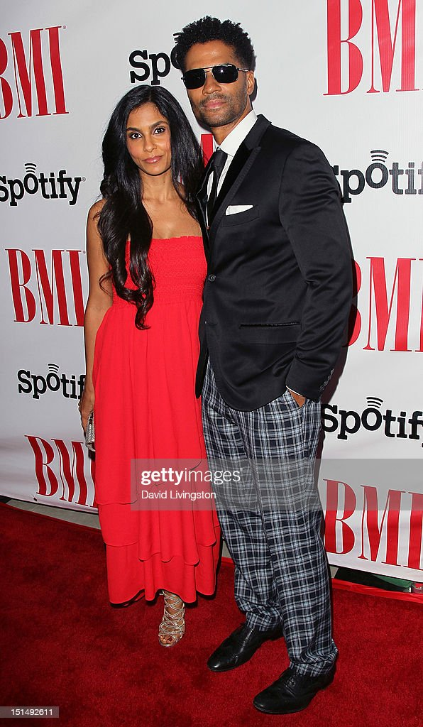 Singer <a gi-track='captionPersonalityLinkClicked' href=/galleries/search?phrase=Eric+Benet&family=editorial&specificpeople=778854 ng-click='$event.stopPropagation()'>Eric Benet</a> (R) and wife <a gi-track='captionPersonalityLinkClicked' href=/galleries/search?phrase=Manuela+Testolini&family=editorial&specificpeople=657395 ng-click='$event.stopPropagation()'>Manuela Testolini</a> attends the 12th Annual BMI Urban Awards at the Saban Theatre on September 7, 2012 in Beverly Hills, California.