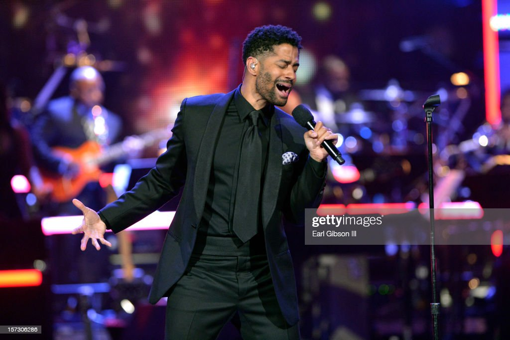 Singer <a gi-track='captionPersonalityLinkClicked' href=/galleries/search?phrase=Eric+Benet&family=editorial&specificpeople=778854 ng-click='$event.stopPropagation()'>Eric Benet</a> performs onstage during UNCF's 34th annual An Evening Of Stars held at Pasadena Civic Auditorium on December 1, 2012 in Pasadena, California.