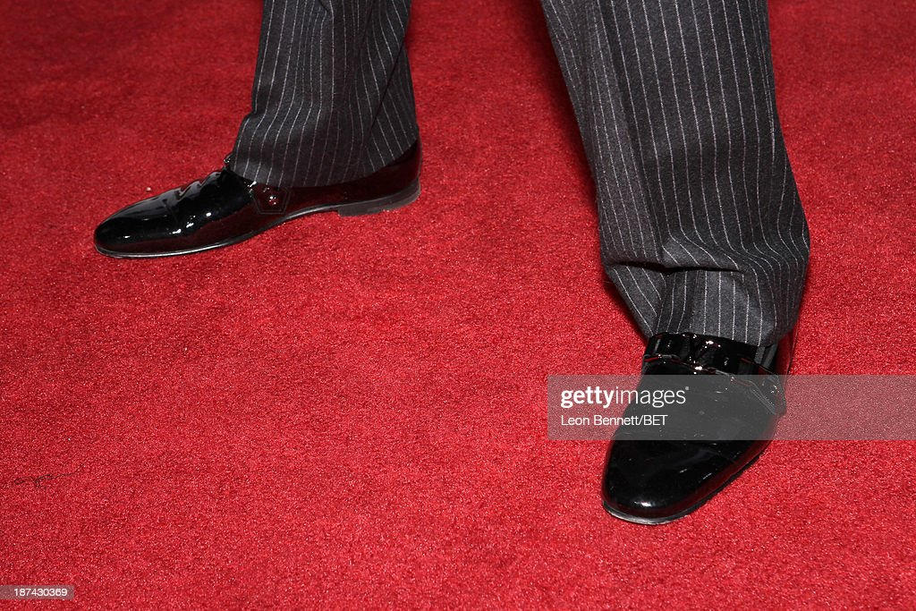 Singer Eric Benét (shoe detail) attends the Soul Train Awards 2013 at the Orleans Arena on November 8, 2013 in Las Vegas, Nevada.