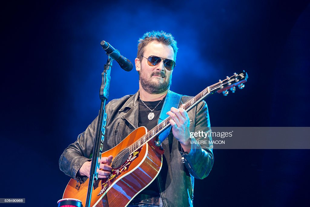 Singer Eric Church performs at Stagecoach 2016, in Indio, California, on April 29, 2016. / AFP / VALERIE