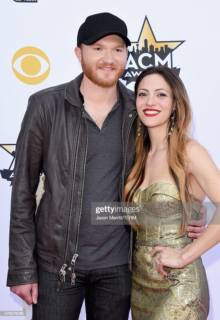 Singer Eric Paslay and Natalie Harker attend the 50th Academy of Country Music Awards at ATT Stadium on April 19 2015 in Arlington Texas