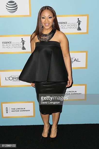 Singer Erica Campbell arrives at the Essence 9th Annual Black Women event in Hollywood at the Beverly Wilshire Four Seasons Hotel on February 25 2016...