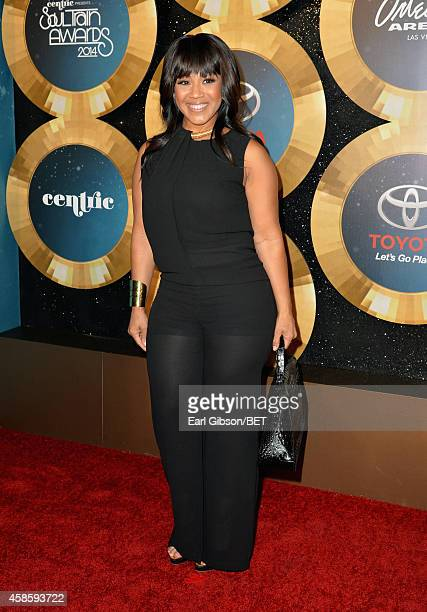 Singer Erica Campbell attends the 2014 Soul Train Music Awards at the Orleans Arena on November 7 2014 in Las Vegas Nevada