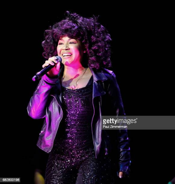 Singer Erica Campbell performs onstage at the 35th Anniversary Mother's Day Weekend Gospelfest 2017 at the Prudential Center on May 13 2017 in Newark...