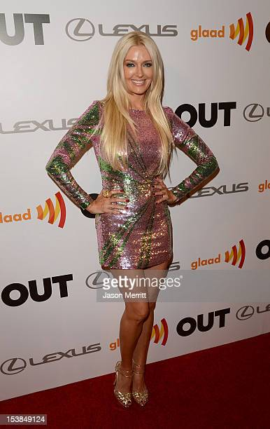 Singer Erika Jayne attends OUT's 20th Anniversary celebration presented by Lexus held at Station Hollywood at W Hollywood Hotel on October 9 2012 in...