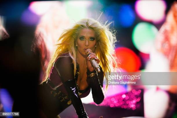 Singer Erika Jayne performs during the LA Pride Music Festival and Parade 2017 on June 11 2017 in West Hollywood California