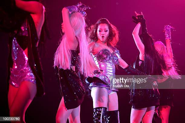 Singer ERIKA performs during the Girls Award 2010 at Yoyogi National Gymnasium on May 22 2010 in Tokyo Japan