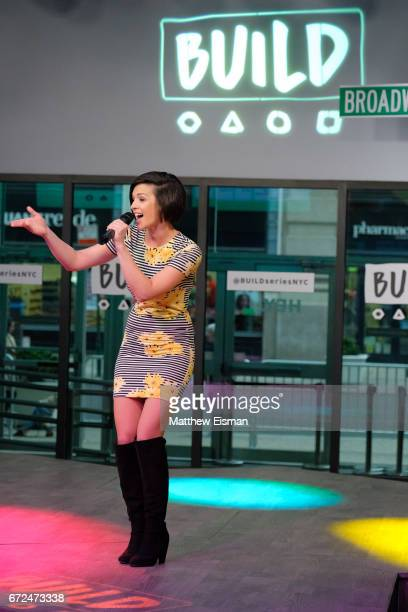 Singer Erin Bowman performs live for Build Presents Erin Bowman discussing her career and performing at Build Studio on April 24 2017 in New York City