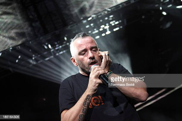 Singer Eros Ramazzotti performs at The Greek Theatre on October 17 2013 in Los Angeles California