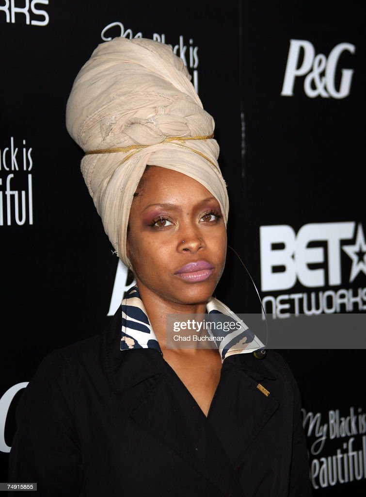 Singer Erykah Badu attends the 1st Annual Pre-BET Awards Party at Boulevard 3 on June 25, 2007 in Los Angeles, California.