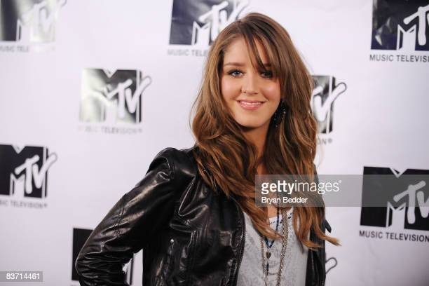 Singer Esmee Denters attends MTV's TRL 'Total Finale Live' at the MTV studios in Times Square on November 16 2008 in New York City