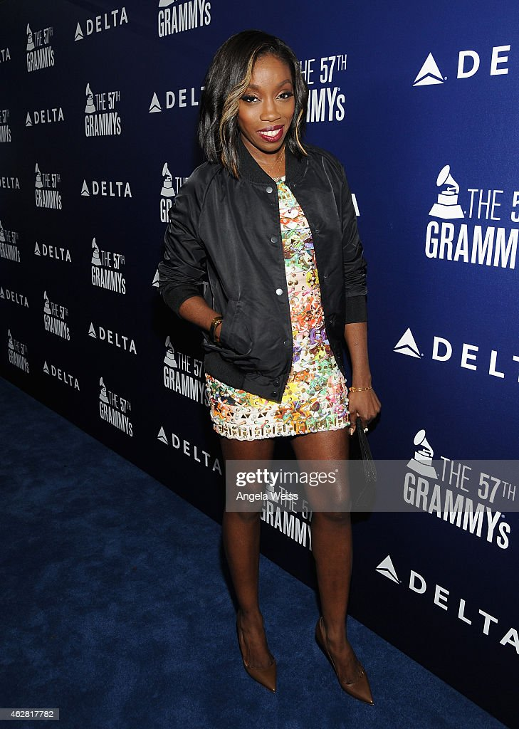 Singer <a gi-track='captionPersonalityLinkClicked' href=/galleries/search?phrase=Estelle+-+Singer&family=editorial&specificpeople=206205 ng-click='$event.stopPropagation()'>Estelle</a> attends a celebration of the 57th annual GRAMMY Awards hosted by Delta Air Lines, the official airline of the GRAMMY Awards, with a private performance from Charli XCX on February 5, 2015 in West Hollywood, California.