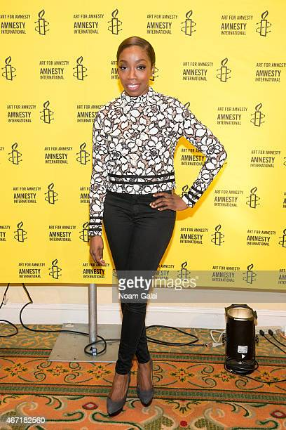Singer Estelle attends Amnesty International USA's 50th Annual Gathering at New York Marriott Brooklyn Bridge on March 21 2015 in New York City