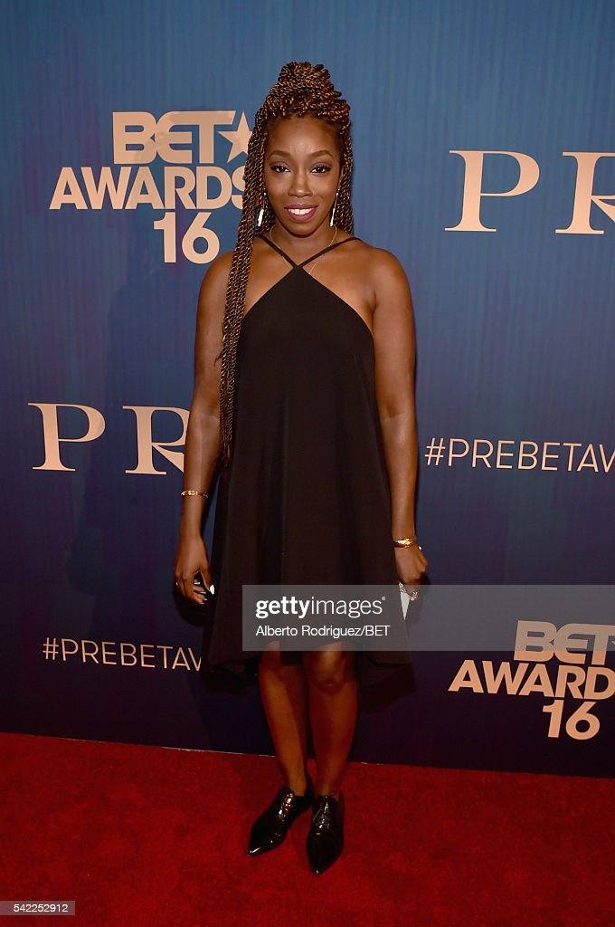 Singer <a gi-track='captionPersonalityLinkClicked' href=/galleries/search?phrase=Estelle+-+Singer&family=editorial&specificpeople=206205 ng-click='$event.stopPropagation()'>Estelle</a> attends Debra Lee's PRE kicking off the 2016 BET Awards on June 22, 2016 in Los Angeles, California.