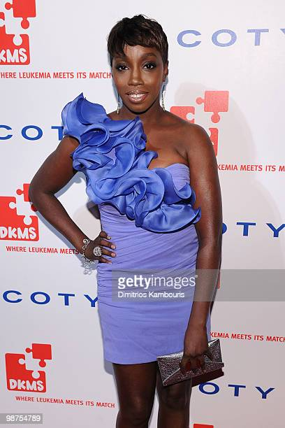 Singer Estelle attends DKMS' 4th Annual Gala Linked Against Leukemia at Cipriani 42nd Street on April 29 2010 in New York City