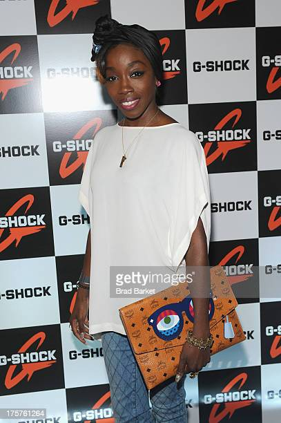 Singer Estelle attends GShock Shock The World 2013 at Basketball City on August 7 2013 in New York City