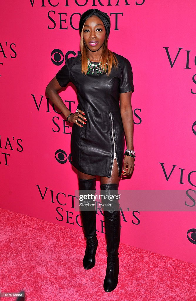 Singer Estelle attends the 2013 Victoria's Secret Fashion Show at Lexington Avenue Armory on November 13, 2013 in New York City.