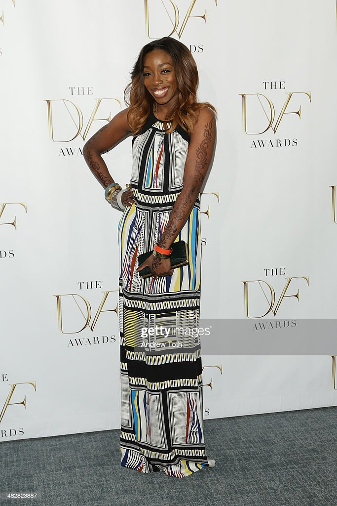 Singer Estelle attends the 2014 DVF Awards on April 4, 2014 in New York City.