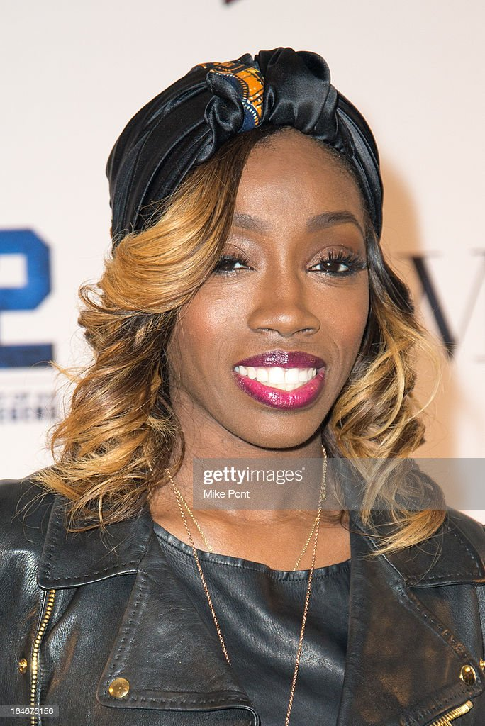 Singer Estelle attends the '42' event honoring the legacy of Jackie Robinson at the Brooklyn Academy of Music on March 25, 2013 in New York City.