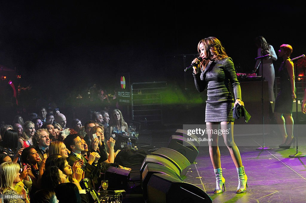 Singer Estelle attends the 55th Annual GRAMMY Awards after party at the Los Angeles Convention Center on February 10, 2013 in Los Angeles, California.