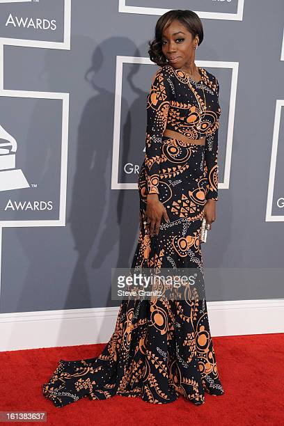 Singer Estelle attends the 55th Annual GRAMMY Awards at STAPLES Center on February 10 2013 in Los Angeles California