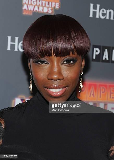 Singer Estelle attends the Paper Magazine 2011 Nightlife awards at Hiro Ballroom at The Maritime Hotel on September 27 2011 in New York City