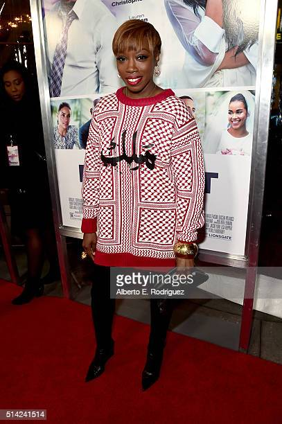 Singer Estelle attends the premiere of Lionsgate's 'The Perfect Match' at ArcLight Hollywood on March 7 2016 in Hollywood California