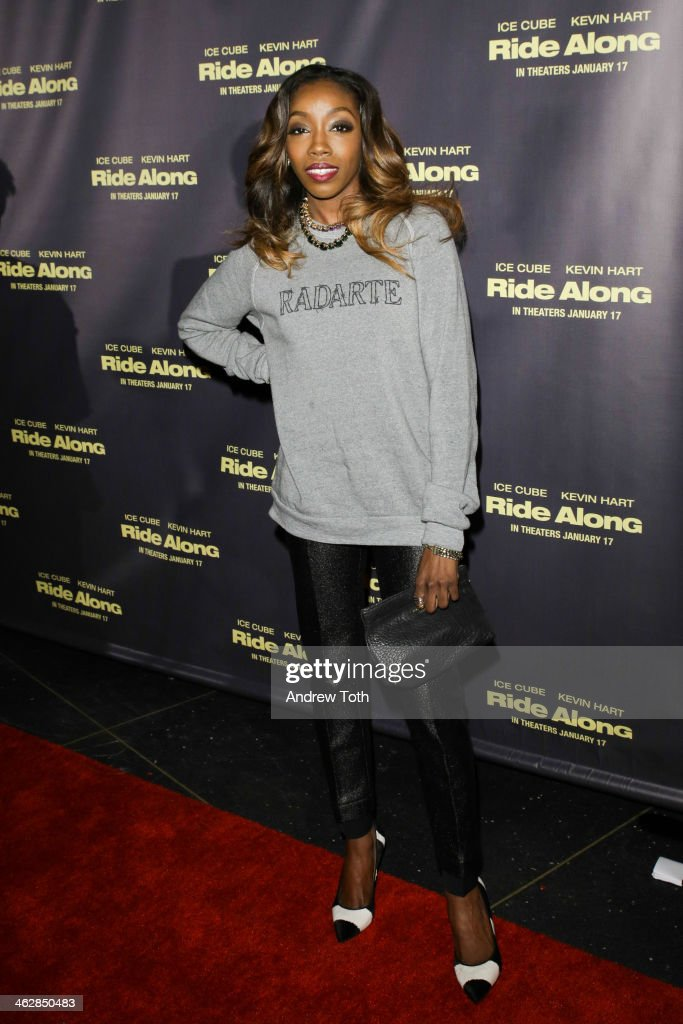 Singer Estelle attends the 'Ride Along' screening at AMC Loews Lincoln Square on January 15, 2014 in New York City.