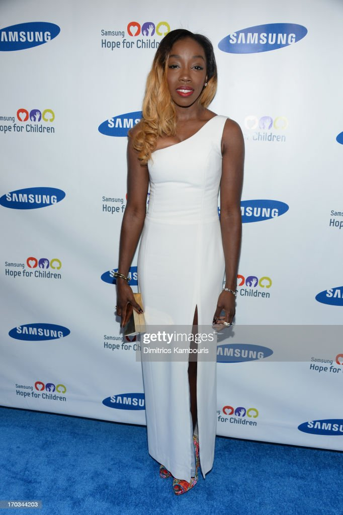 Singer <a gi-track='captionPersonalityLinkClicked' href=/galleries/search?phrase=Estelle+-+Singer&family=editorial&specificpeople=206205 ng-click='$event.stopPropagation()'>Estelle</a> attends the Samsung's Annual Hope for Children Gala at Cipriani's in Wall Street on June 11, 2013 in New York City.