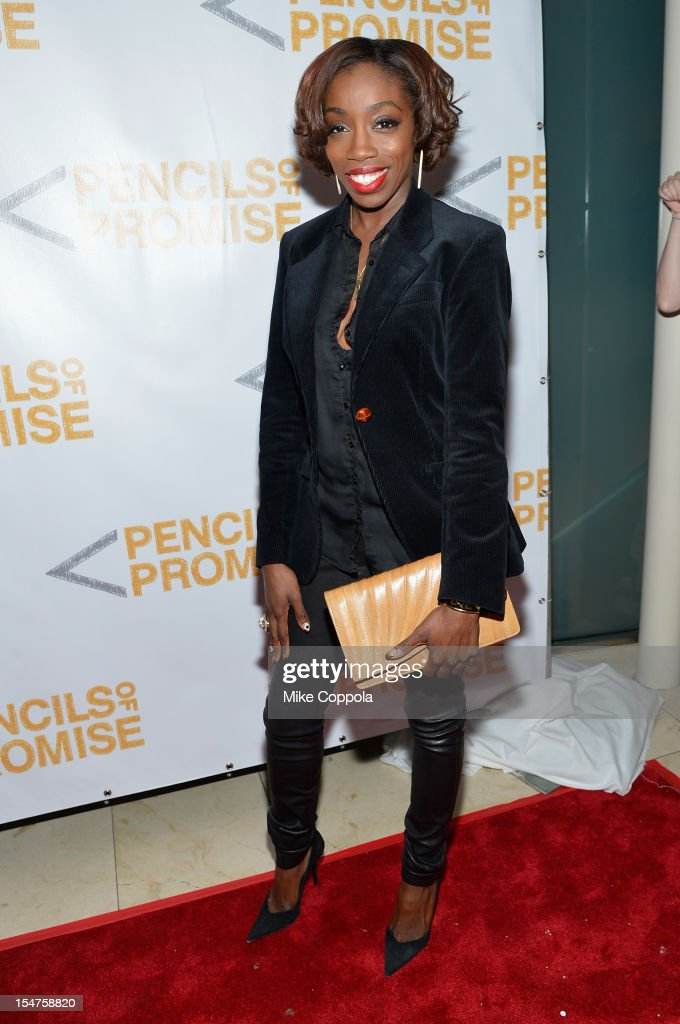 Singer Estelle attends the second annual Pencils of Promise Gala at Guastavino's on October 25, 2012 in New York City.