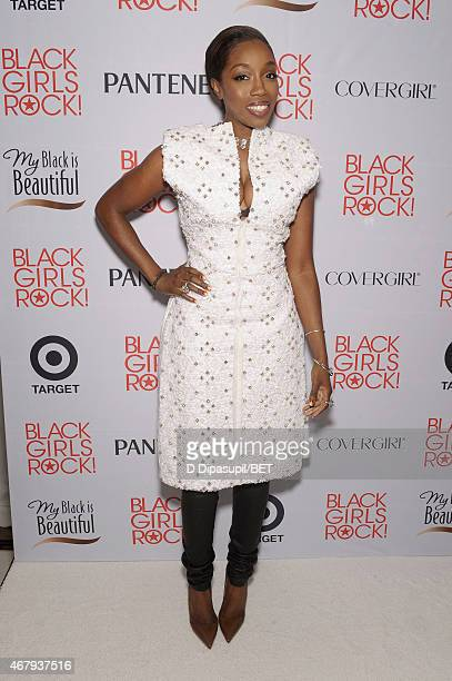 Singer Estelle attends the Style Stage sponsored by PG and Target at 'Black Girls Rock' at NJPAC – Prudential Hall on March 28 2015 in Newark New...