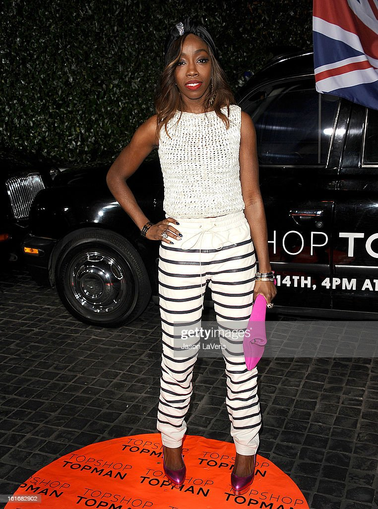 Singer Estelle attends the Topshop Topman LA flagship store opening party at Cecconi's Restaurant on February 13, 2013 in Los Angeles, California.