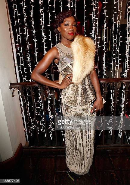 Singer Estelle attends the Warner Music Group Grammy Celebration hosted by InStyle at Chateau Marmont on February 12 2012 in Los Angeles California