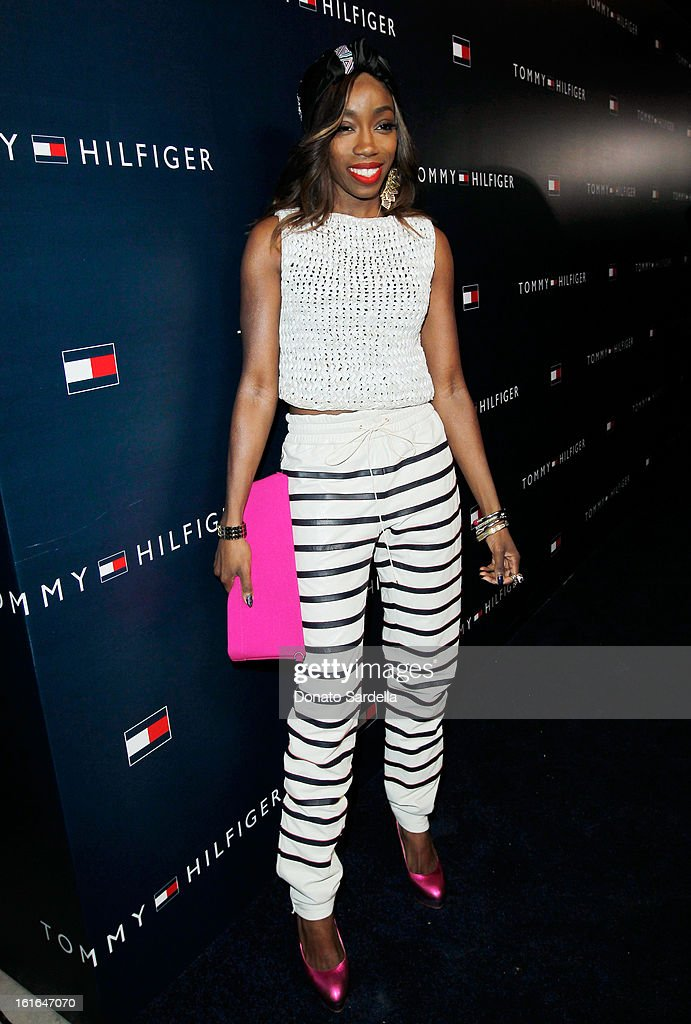 Singer Estelle attends Tommy Hilfiger New West Coast Flagship Opening on Robertson Boulevard on February 13, 2013 in West Hollywood, California.