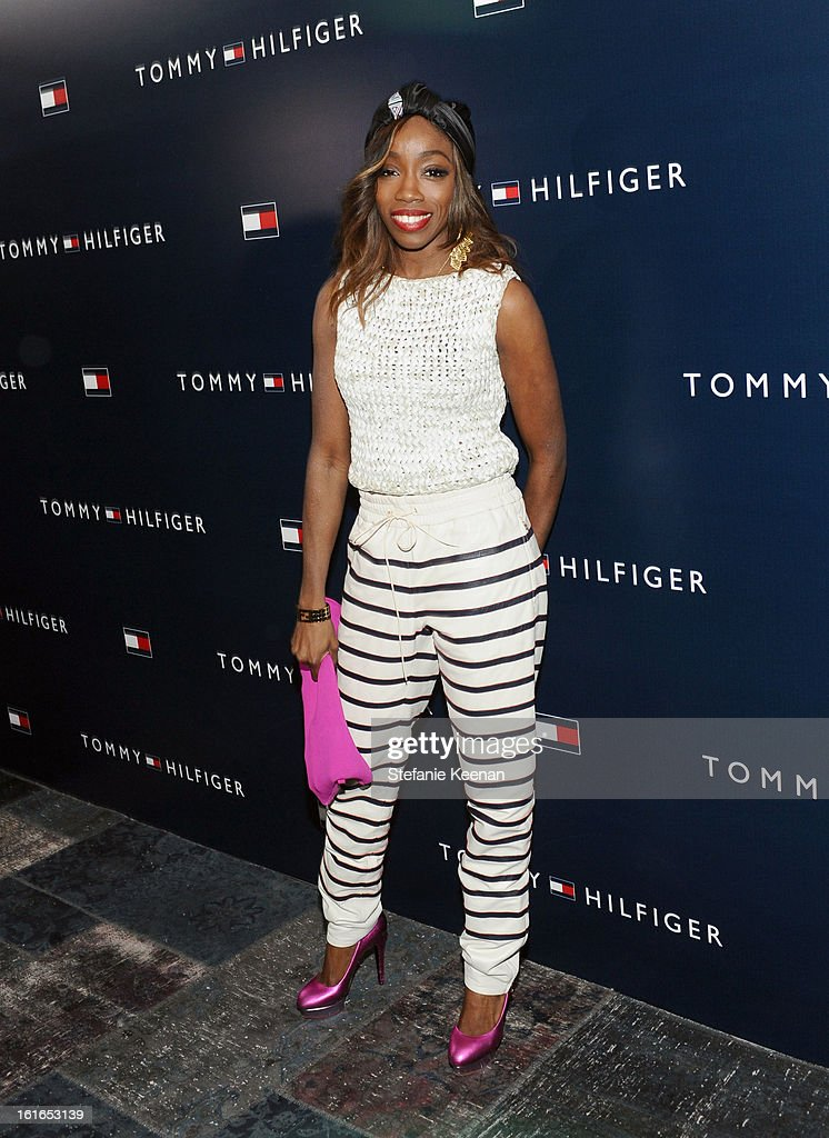 Singer Estelle attends Tommy Hilfiger New West Coast Flagship Opening After Party at a Private Club on February 13, 2013 in West Hollywood, California.