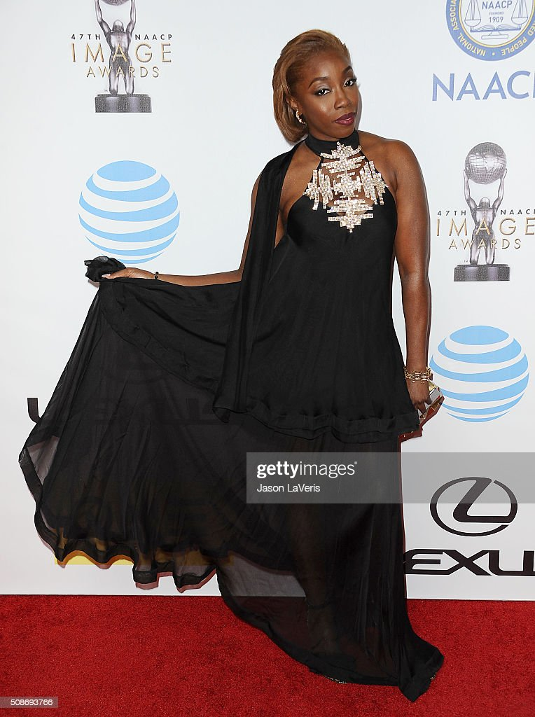 Singer <a gi-track='captionPersonalityLinkClicked' href=/galleries/search?phrase=Estelle+-+Singer&family=editorial&specificpeople=206205 ng-click='$event.stopPropagation()'>Estelle</a> Fanta Swaray attends the 47th NAACP Image Awards at Pasadena Civic Auditorium on February 5, 2016 in Pasadena, California.