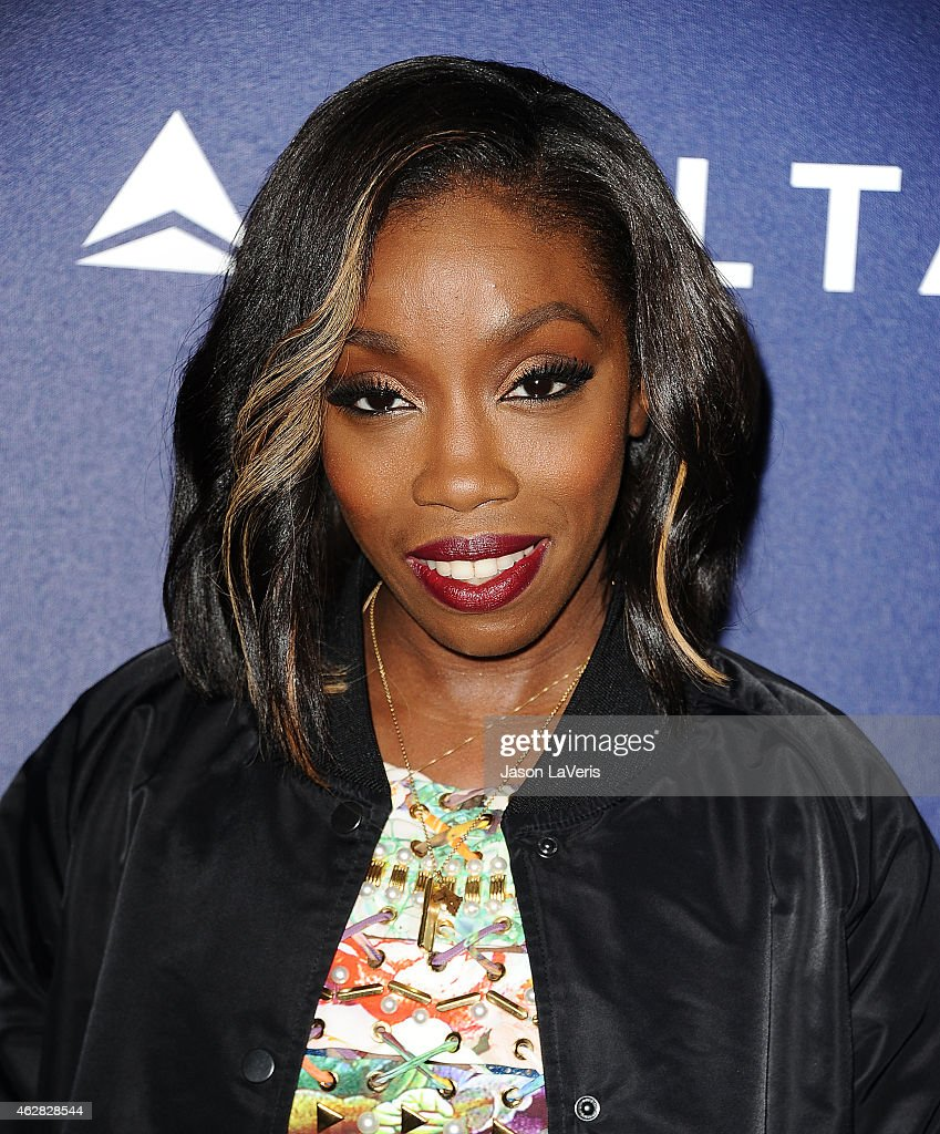 Singer <a gi-track='captionPersonalityLinkClicked' href=/galleries/search?phrase=Estelle+-+Singer&family=editorial&specificpeople=206205 ng-click='$event.stopPropagation()'>Estelle</a> Fanta Swaray attends the Delta Air Lines toast to the 2015 GRAMMY weekend at Soho House on February 5, 2015 in West Hollywood, California.
