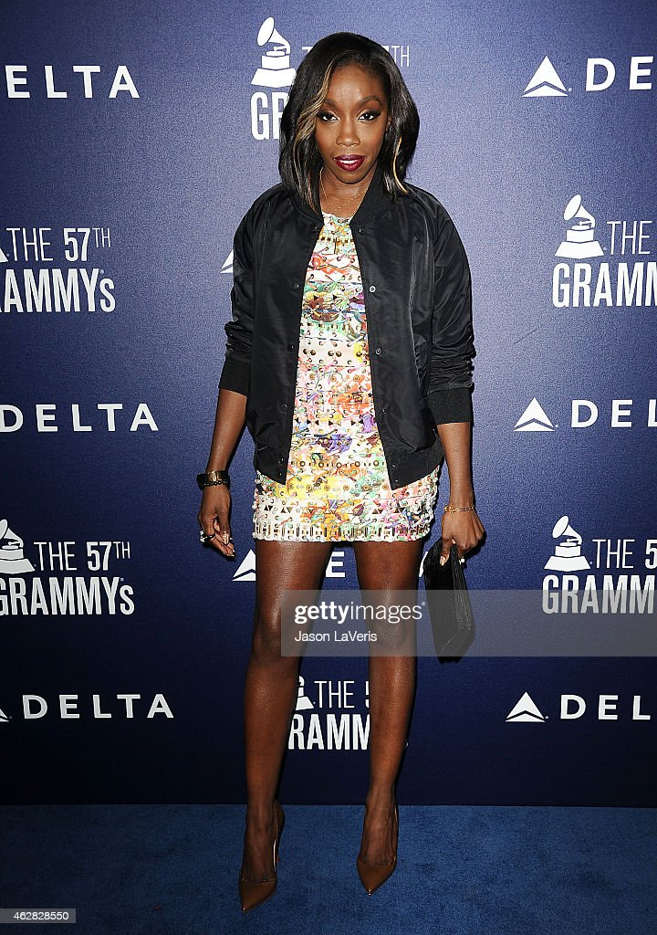 Singer Estelle Fanta Swaray attends the Delta Air Lines toast to the 2015 GRAMMY weekend at Soho House on February 5 2015 in West Hollywood California