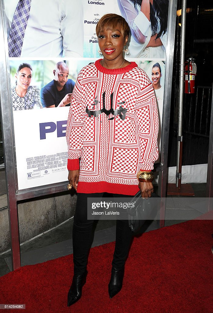 Singer Estelle Fanta Swaray attends the premiere of 'The Perfect Match' at ArcLight Hollywood on March 7 2016 in Hollywood California