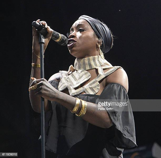 Singer Estelle performs onstage at 2016 Many Rivers to Cross Festival at Bouckaert Farm on October 1 2016 in Fairburn Georgia